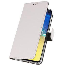 Wallet Cases Tasche für Samsung Galaxy S10e Weiß
