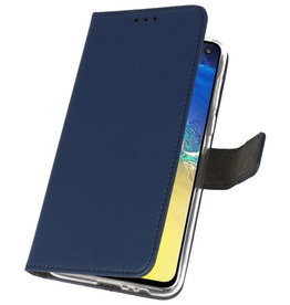Wallet Cases Hoesje voor Samsung Galaxy S10e Navy