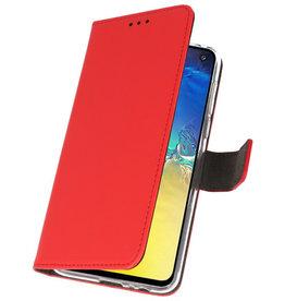 Wallet Cases Hoesje voor Samsung Galaxy S10e Rood