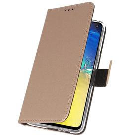 Wallet Cases Hülle für Samsung Galaxy S10e Gold