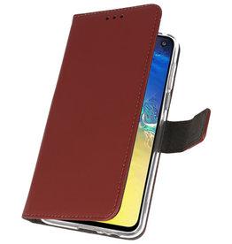 Wallet Cases Hoesje voor Samsung Galaxy S10e Bruin