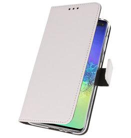 Wallet Cases Hoesje voor Samsung Galaxy S10 Plus Wit