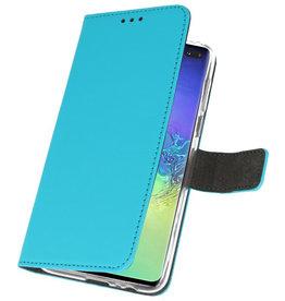 Wallet Cases Hülle für Samsung Galaxy S10 Plus Blau