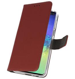 Wallet Cases Hülle für Samsung Galaxy S10 Plus Braun
