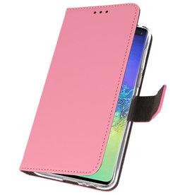 Wallet Cases Hülle für Samsung Galaxy S10 Plus Pink