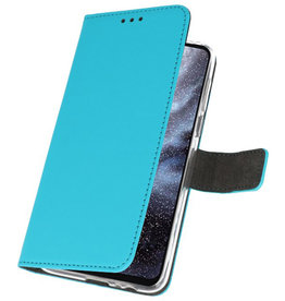 Wallet Cases Hoesje voor Samsung Galaxy A8s Blauw