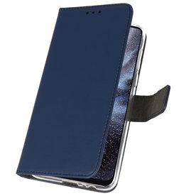 Wallet Cases Hülle für Samsung Galaxy A8s Navy