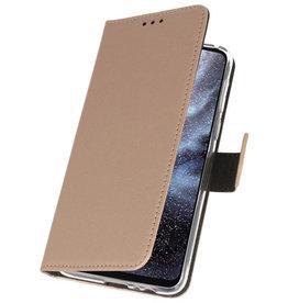 Wallet Cases Hülle für Samsung Galaxy A8s Gold
