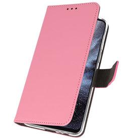 Wallet Cases Hülle für Samsung Galaxy A8s Pink