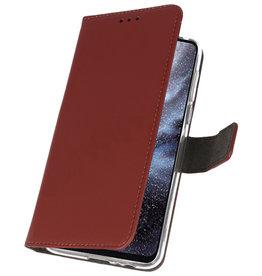 Wallet Cases Hoesje voor Samsung Galaxy A8s Bruin