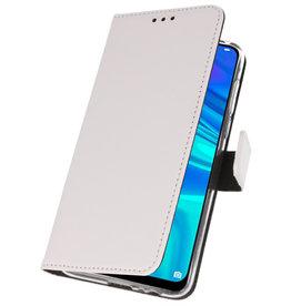 Brieftasche Tasche für Huawei P Smart 2019 Weiß