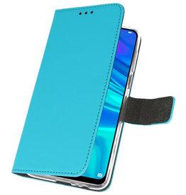 Wallet Cases Hülle für Huawei P Smart 2019 Blau
