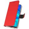 Wallet Cases Hülle für Huawei P Smart 2019 Rot