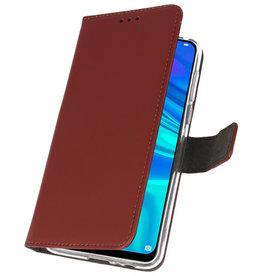 Wallet Cases Tasche für Huawei P Smart 2019 Braun