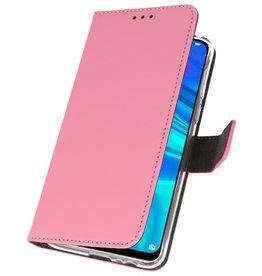 Wallet Cases Hülle für Huawei P Smart 2019 Pink