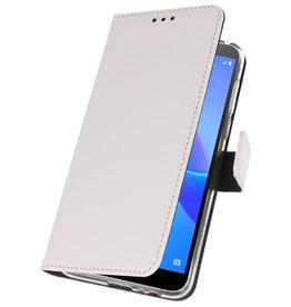 Wallet Cases Case für Huawei Y5 Lite 2018 Weiß