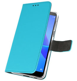 Wallet Cases Case for Huawei Y5 Lite 2018 Blue