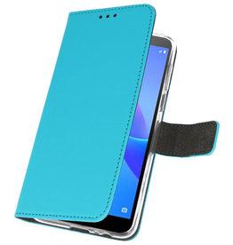 Wallet Cases Case für Huawei Y5 Lite 2018 Blau