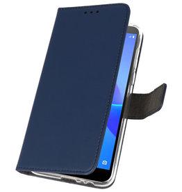 Brieftasche Tasche für Huawei Y5 Lite 2018 Navy