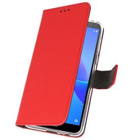 Wallet Cases Hülle für Huawei Y5 Lite 2018 Rot