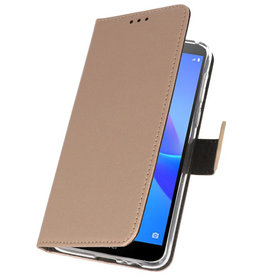 Wallet Cases Hoesje voor Huawei Y5 Lite 2018 Goud