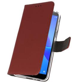 Wallet Cases Tasche für Huawei Y5 Lite 2018 Braun