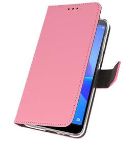 Wallet Cases Hülle für Huawei Y5 Lite 2018 Pink