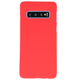 Color TPU case for Samsung Galaxy S10 red