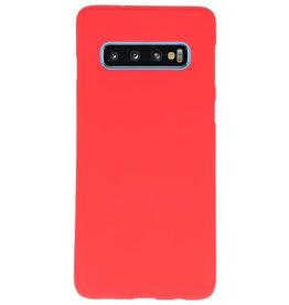 Color TPU Hoesje voor Samsung Galaxy S10 Rood