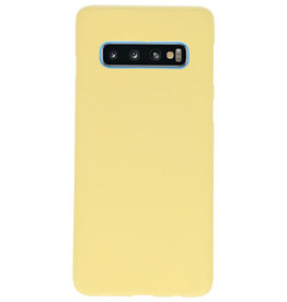 Color TPU case for Samsung Galaxy S10 yellow