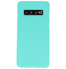 Color TPU Hoesje voor Samsung Galaxy S10 Turquoise