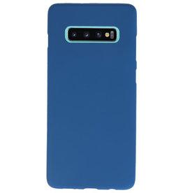 Color TPU Hoesje voor Samsung Galaxy S10 Plus Navy