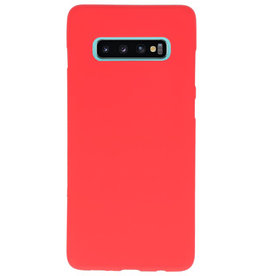 Color TPU case for Samsung Galaxy S10 Plus red