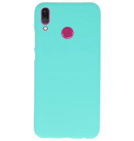 Farb-TPU-Hülle für Huawei Y9 2019 Turquoise