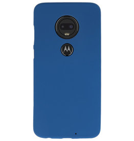 Color TPU case for Motorola Moto G7 Navy