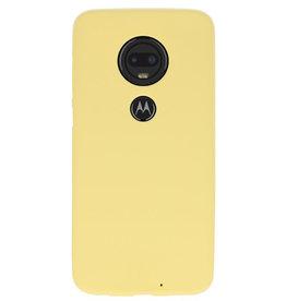 Color TPU case for Motorola Moto G7 yellow