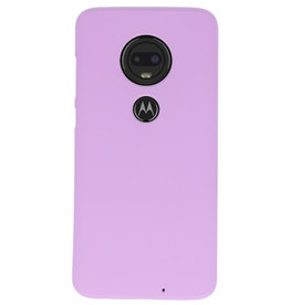 Color TPU case for Motorola Moto G7 Purple