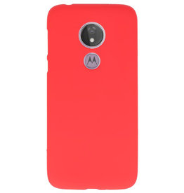 Color TPU case for Motorola Moto G7 Power Red