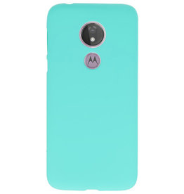 Color TPU case for Motorola Moto G7 Power Turquoise