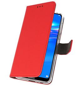 Wallet Cases Hoesje voor Huawei Y7 / Y7 Prime (2019) Rood