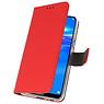 Wallet Cases Hülle für Huawei Y7 / Y7 Prime (2019) Rot