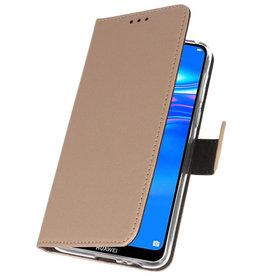 Brieftasche Etuis für Huawei Y7 / Y7 Prime (2019) Gold