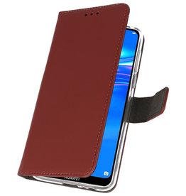Wallet Cases Hülle für Huawei Y7 / Y7 Prime (2019) Braun
