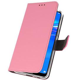 Wallet Cases Hoesje voor Huawei Y7 / Y7 Prime (2019) Roze