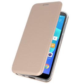 Schmaler Folio-Koffer für Huawei Y5 Lite / Y5 Prime 2018 Gold