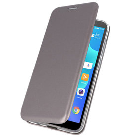 Schmales Folio-Case für Huawei Y5 Lite / Y5 Prime 2018 Grau