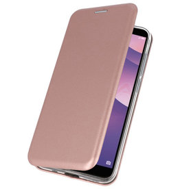 Schmaler Folio-Koffer für Huawei Y7 / Y7 Prime 2018 Pink