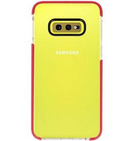 Armor TPU case for Samsung Galaxy S10e Transparent / Red