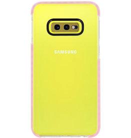 Armor TPU Hoesje voor Samsung Galaxy S10e Transparant / Roze