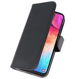 Bookstyle Wallet Cases Hülle für Galaxy A50 Schwarz